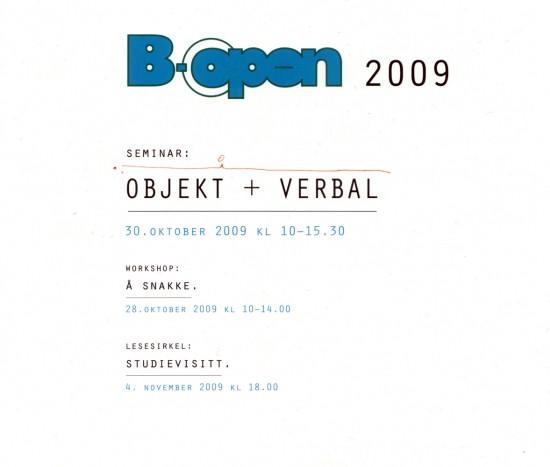 B-open 2009
