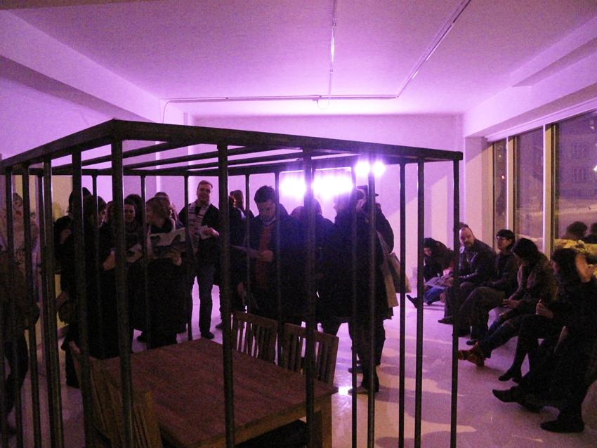 Fra utstillingsåpningen 14.januar
