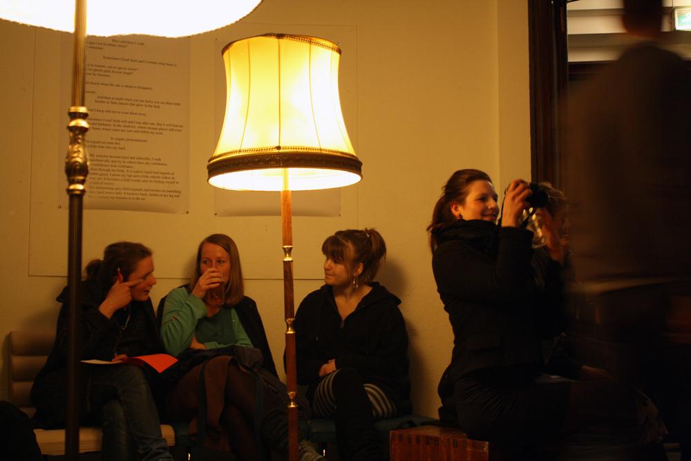 audience at landmark